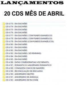 CDS LANÇAMENTOS DO MES DE ABRIL 2017